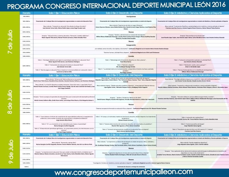Congreso deporte municipal León 2016